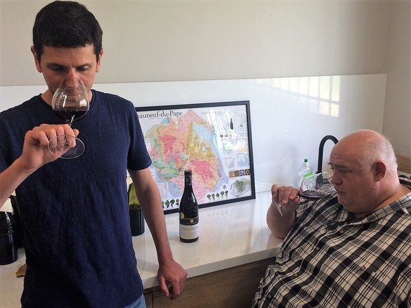 Thierry Ferlay (left) tasting with Philippe Cambie (right)